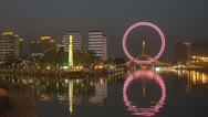 Stock Video Footage of Tianjin Eye and Monument of Diversion Project, Tianjin, China