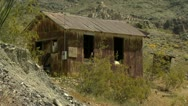 Stock Video Footage of Old Shack - mining town