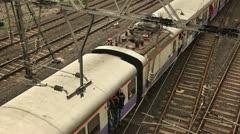 Mumbai Trains 2 - stock footage