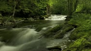 Stock Video Footage of timelapse of blurred water in river with stunning surroundings