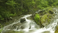 Stock Video Footage of timelapse of blurred water in river with beautiful surroundings