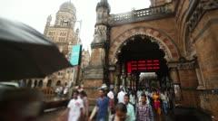 Mumbai Train Station - stock footage