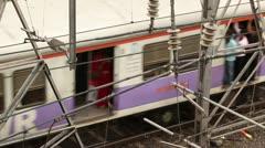Mumbai Trains 3 - stock footage