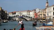 Stock Video Footage of Grand Canal Rialto Bridge Venice