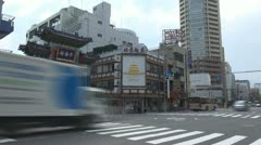 Timelapse Yokohama Chinatown's East Gate, Yokohama, Japan Stock Footage