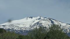 Mount Etna - Volcano Stock Footage