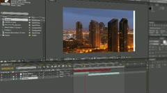 Video editing time-laps Stock Footage