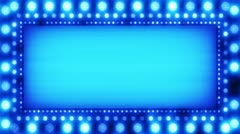 Flashing lights blue banner loop Stock Footage