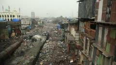 Mumbai Slums - stock footage