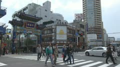 Yokohama Chinatown's East Gate, Yokohama, Japan Stock Footage