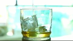 Whiskey glass Stock Footage