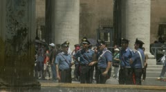 St Peters Square, Italian cops - stock footage