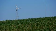 Windmill in a Wisconsin Field Stock Footage