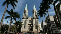 4K+HD CATEDRAL DA SE - Sao Paulo / Metropolitan Cathedral Brazil time lapse Stock Footage