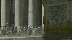 St Peters Square fountain (3) - stock footage
