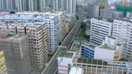 HongKong Buildings & Traffic Stock Footage