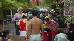 Songkran Thai New Year Stock Footage