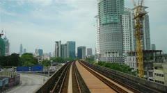 Street traffic in Kuala Lumpur, Malaysia Stock Footage
