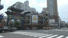 Yokohama Chinatown's East Gate, Yokohama, Japan Stock Footage