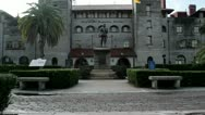 Stock Video Footage of St. Augustine City Hall and Lightner Museum in Florida, USA