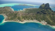 Stock Video Footage of Bora Bora Lagoon
