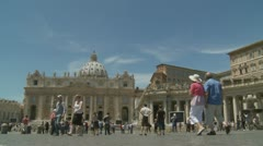 St Peters timelapse - Nuns, Bishops, Brides, choirs Stock Footage