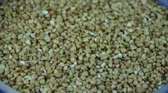 Many buckwheat,grain food. Stock Footage