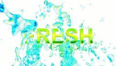 Fresh  water Splash in slow motion Stock Footage