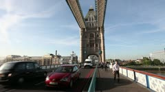 Traffic on Towerbridge - stock footage