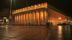 Bordeaux - Grand Theatre Timelapse Slow Shutter Stock Footage