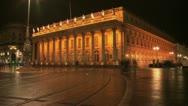 Bordeaux - Grand Theatre Timelapse Slow Shutter Stock Footage