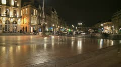 Place de la Comedie Slow Shutter 01 Stock Footage