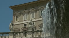Pope's apartment, St Peters Stock Footage