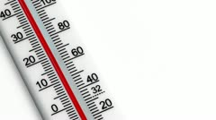 Thermometer Falling Stock Footage