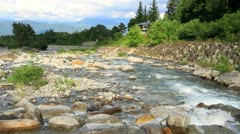 Crystal clear mountain river.+sound. Stock Footage