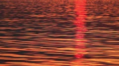 Water - Red Waves at Sunset Stock Footage
