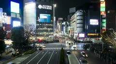 Japan, Tokyo, city night T/L Stock Footage