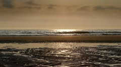 Sea shore at sunset Stock Footage