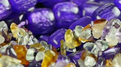 Gorgeous gemstones jewelry. Stock Footage
