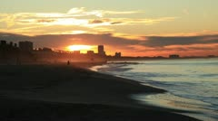 California Coast Sunrise Timelapse Stock Footage