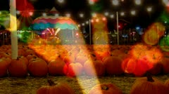 Autumn Festival- Pumpkins-Carnival Lights  - stock footage