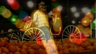 "Stock Video Footage of Autumn Festival- Pumpkins-Carnival Lights ""Double Exposure"" 2"