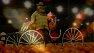 "Stock Video Footage of Autumn Festival- Pumpkins-Carnival Lights ""Doulbe Exposure"" SloMo 2"