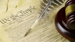 US Constitution Left Pan (HD) Stock Footage