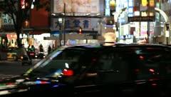 Shibuya at night in Tokyo Stock Footage