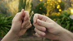Breaking Wishbone (HD) Stock Footage