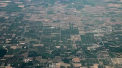 Flying above very flat land Stock Footage