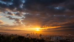 Los Angeles sunrise, timelapse. - stock footage