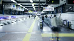 Japan, Tokyo, commuters T/L Stock Footage