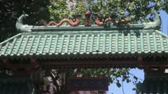 Stock Video Footage of Chinatown Gate San Francisco